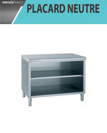 placards neutre ouvert central inox