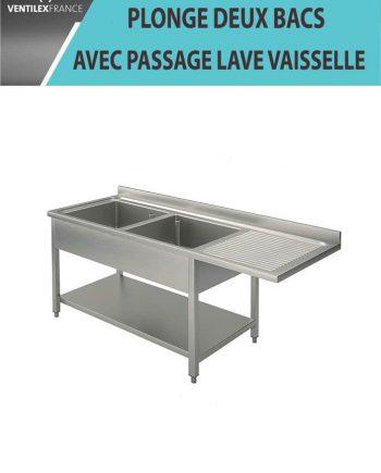 PLONGE-2-BACS-EGOUTTOIR-DROITE-AVEC-PASSAGE-LAVE-VAISSELLE