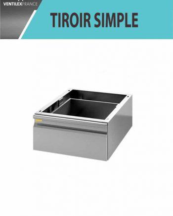 TIROIR SIMPLE INOX