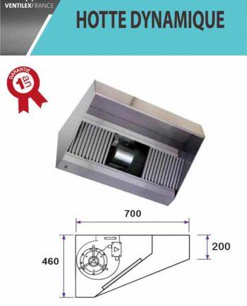 Hotte professionnelle dynamique 2500 mm profondeur 700 mm